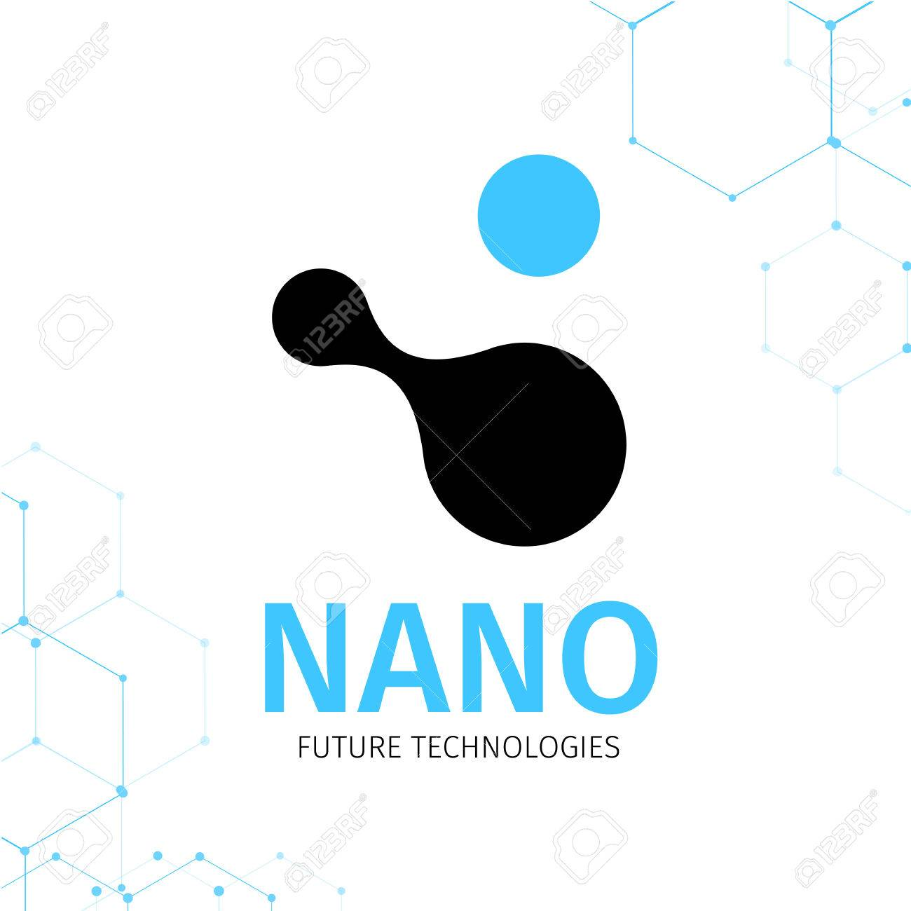 Vector Illustration Of Nano Logo - Nanotechnology. Template Design ...