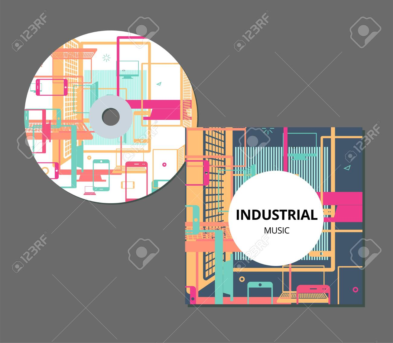 Cd cover design template eps 10 transparencies vector image.