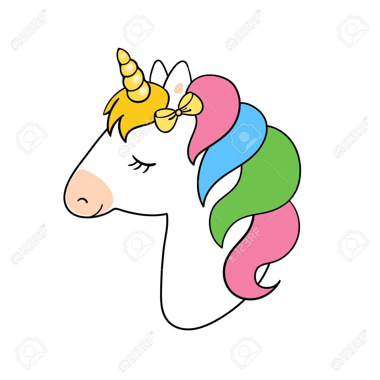 Cute Unicorn Vector Illustration Unicorn Vector Icon Isolated Royalty Free Cliparts Vectors And Stock Illustration Image 132543049