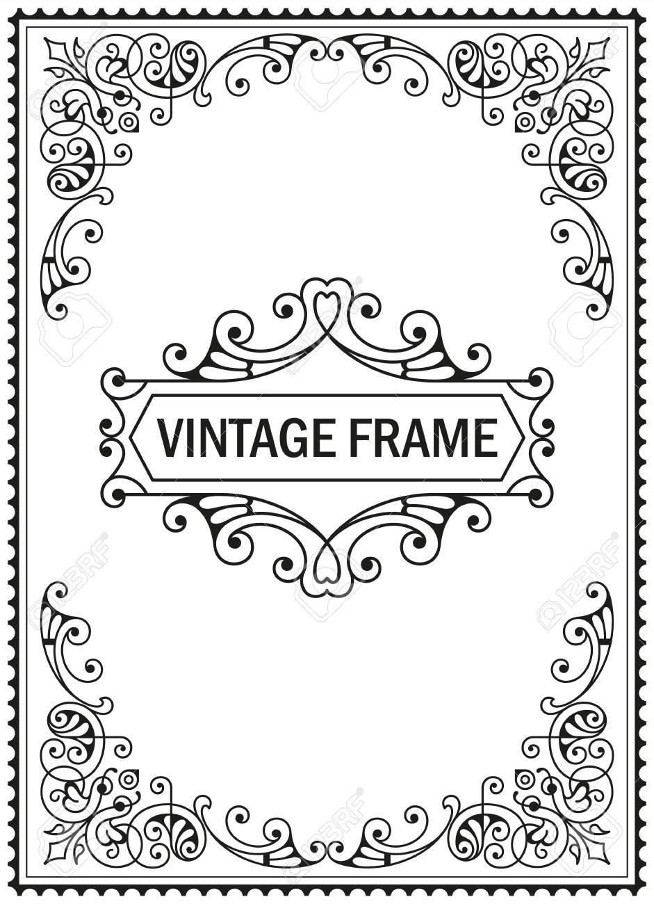 Flourish border corner and frame decorative elements for design flourish border corner and frame decorative elements for design invitations frames menus stock stopboris Image collections