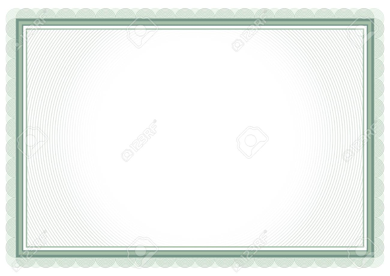 Certificate template, gift voucher, diploma, vintage border - 117013286