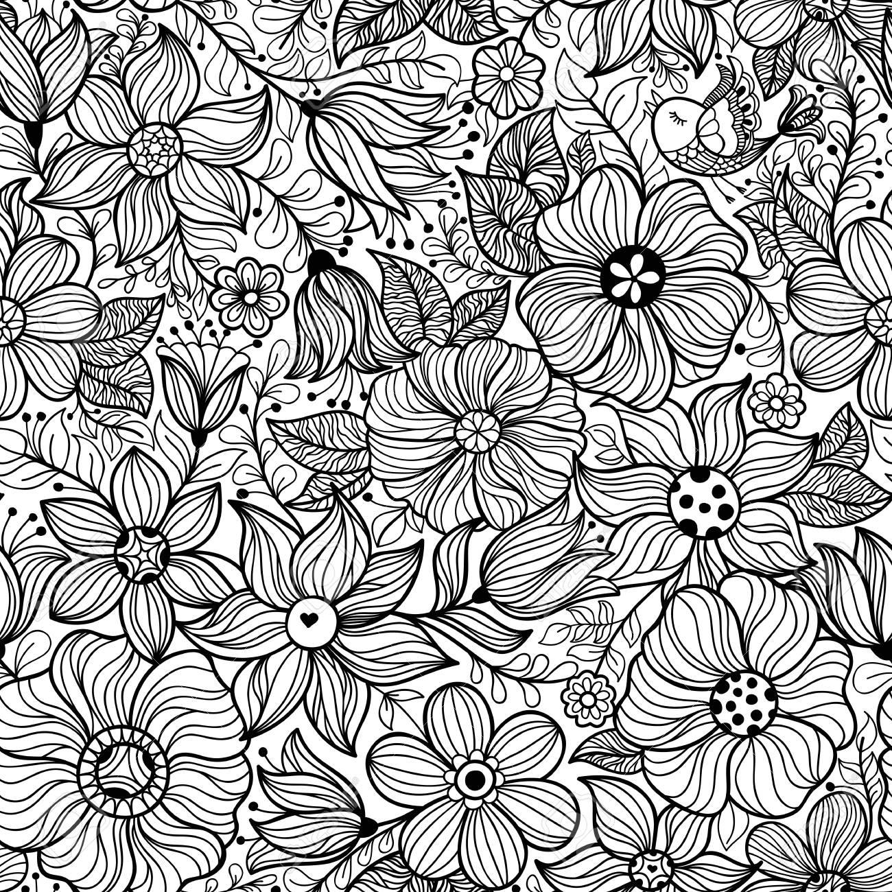 Papier Peint Pour Bureau vector seamless vintage avec fleur. peut être utilisé pour le papier peint  de bureau ou cadre pour une tenture murale ou une affiche, pour des motifs