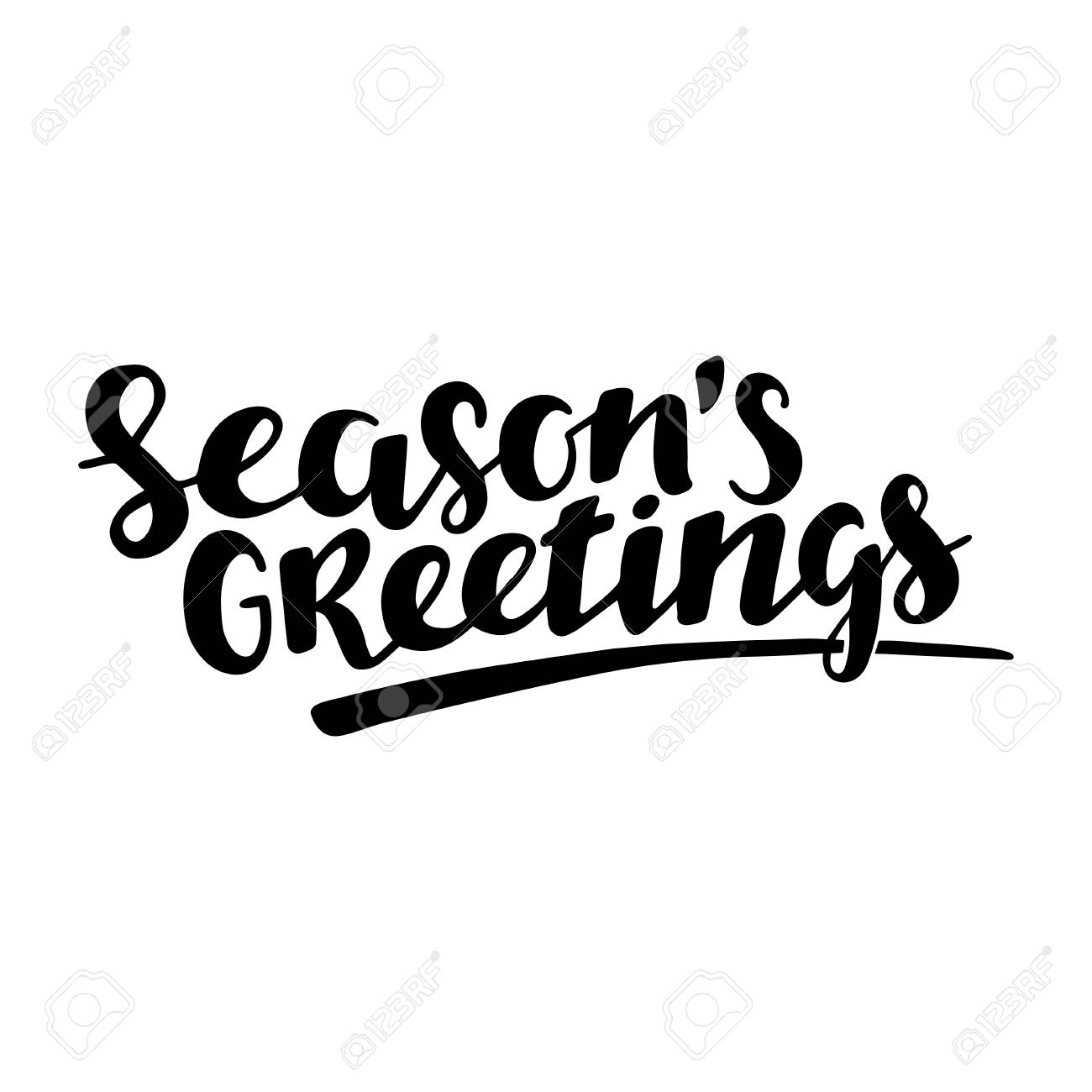 Season Greeting Quote Vector Text For Design Greeting Cards