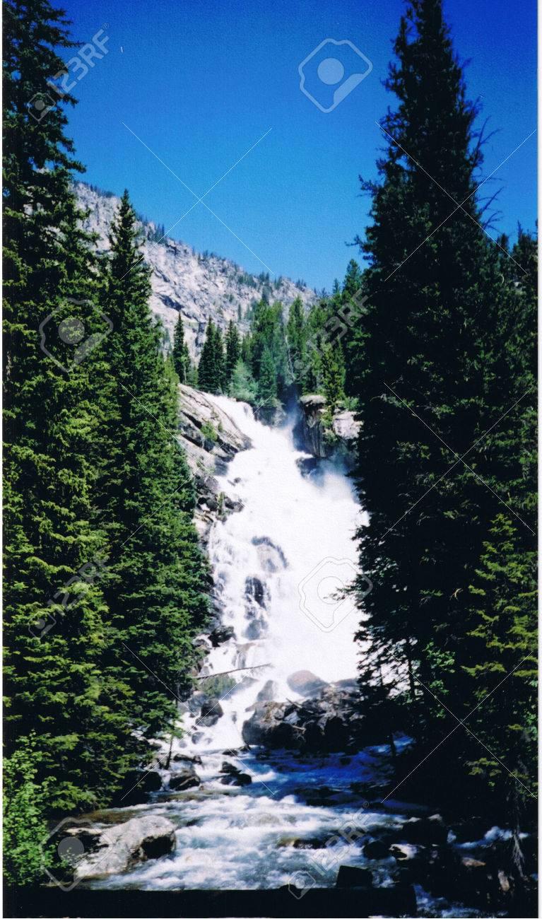 Hidden Falls in the Grand Tetons Stock Photo - 1416377