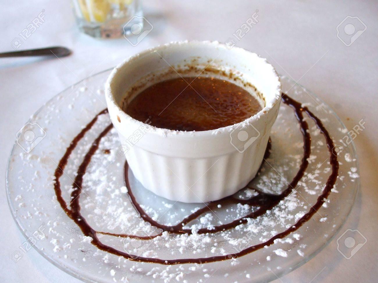 Chocolate creme brulee Stock Photo - 3620674