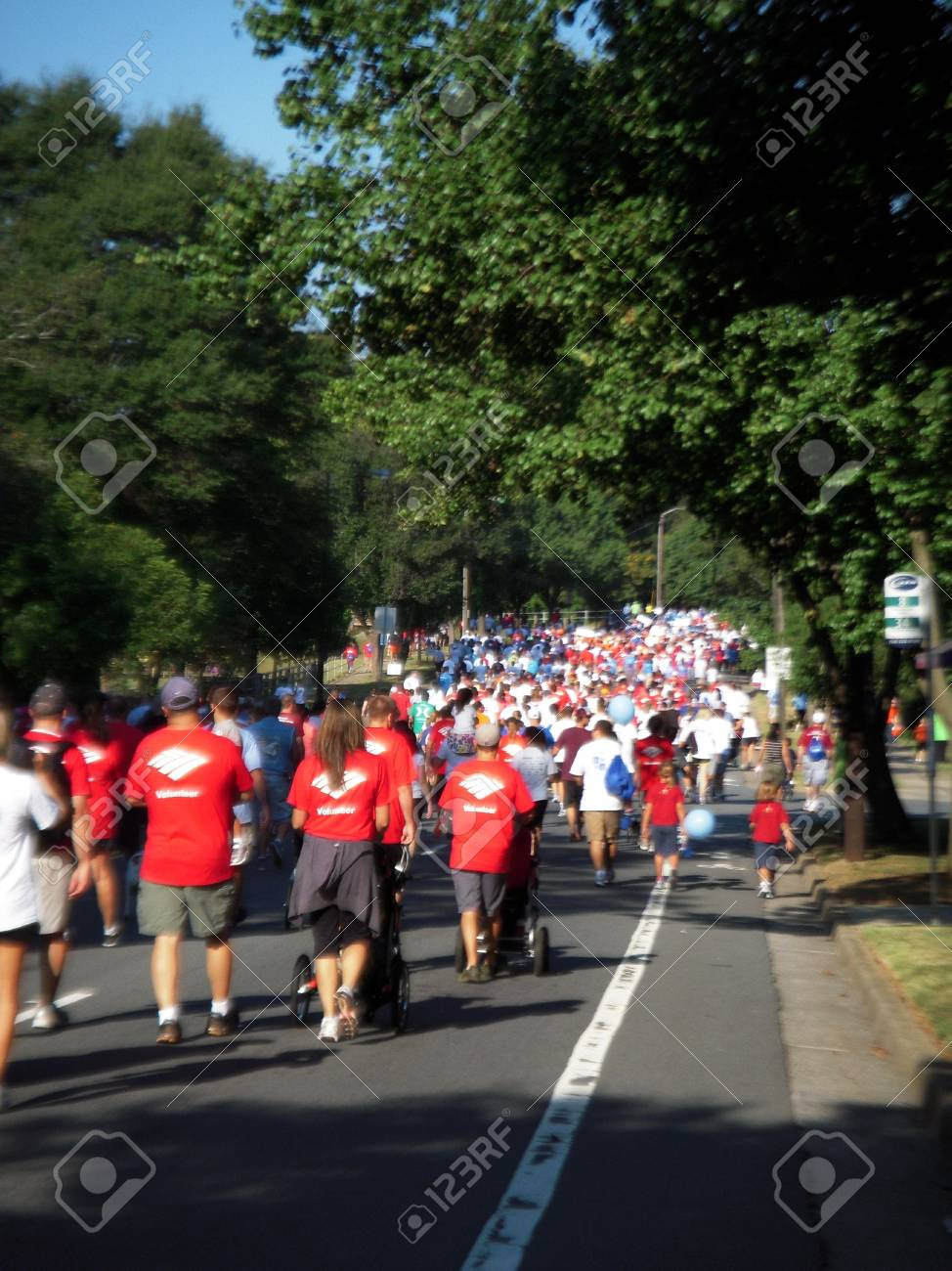 September 25, 2010 - Charlotte, NC - Charlotte Heart Walk participants enjoying the perfect weather to walk for a good cause Stock Photo - 7895921