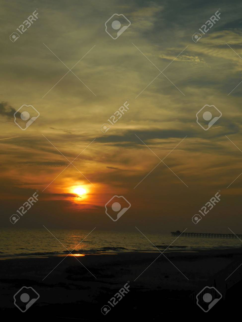 Sunset at the beach Stock Photo - 73099839