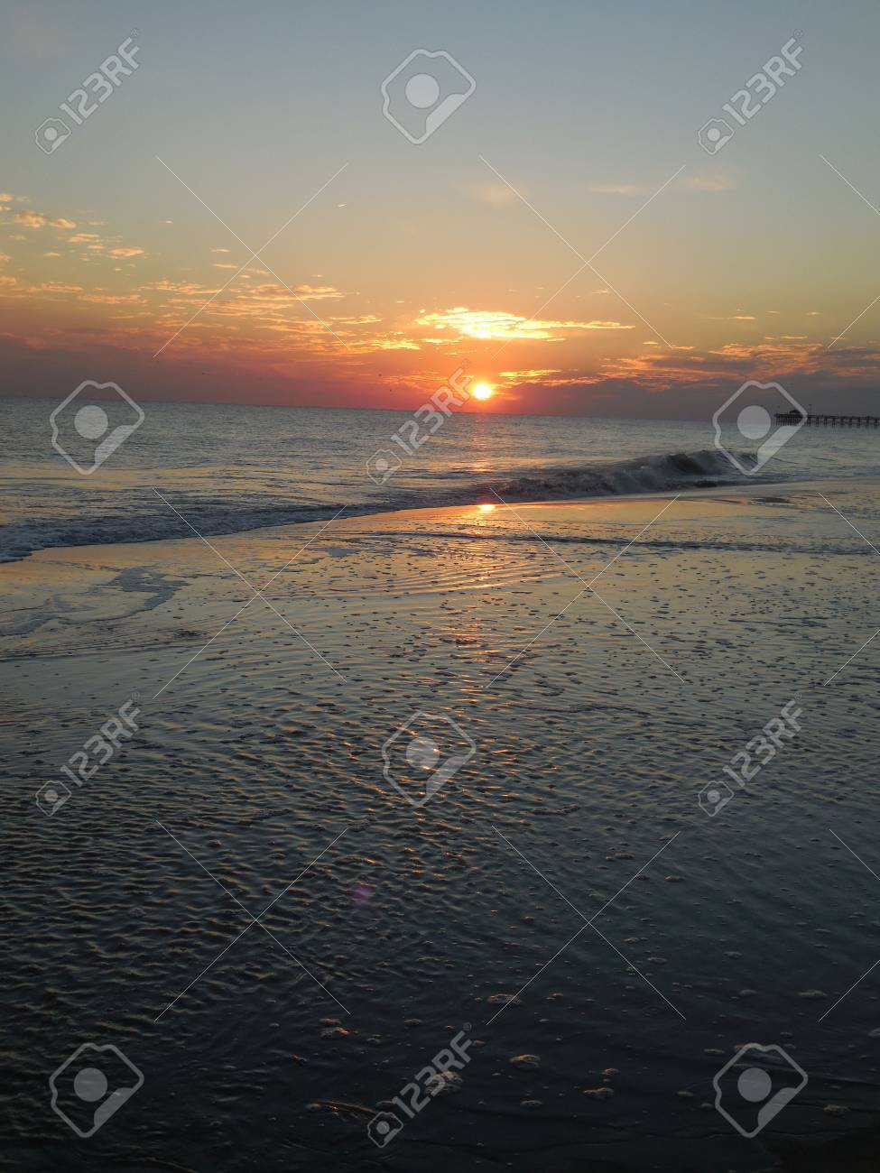 Sunset at the beach Stock Photo - 73746421