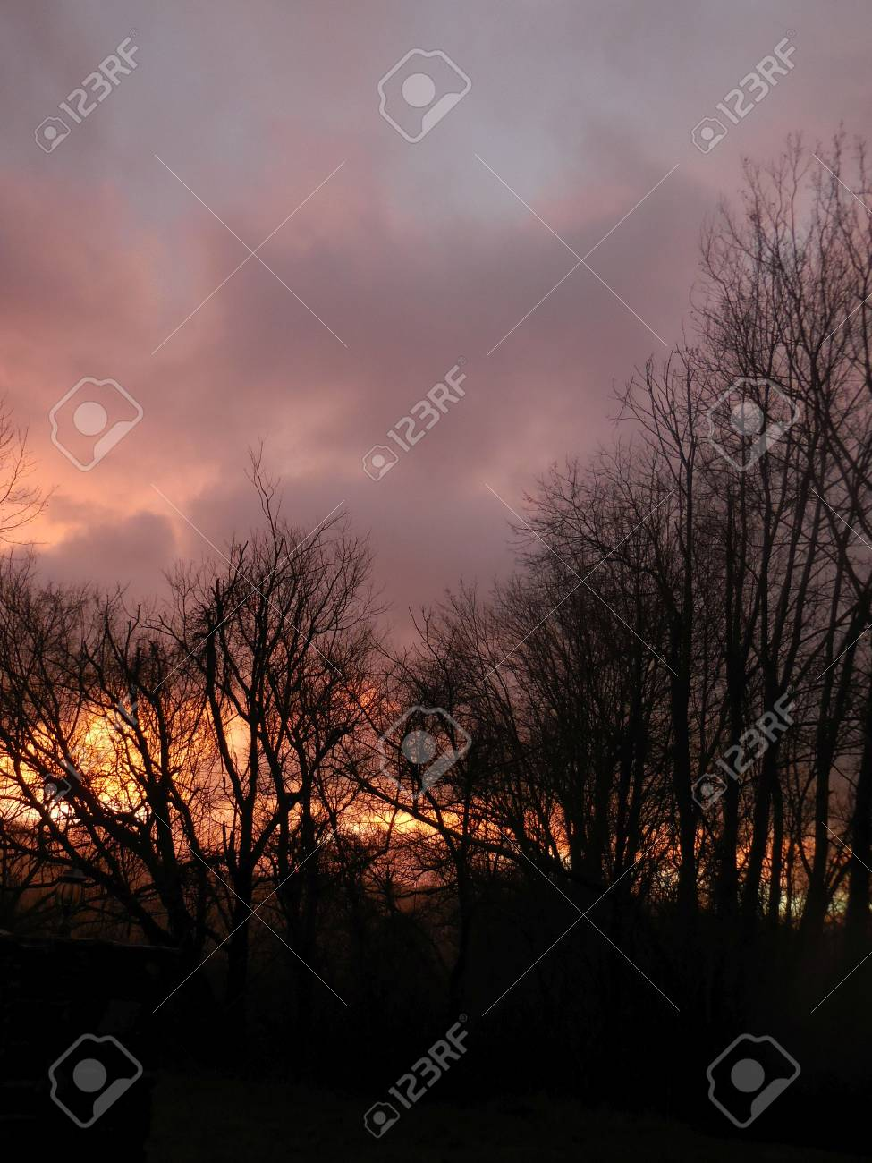 Winter sunrise Stock Photo - 73099840