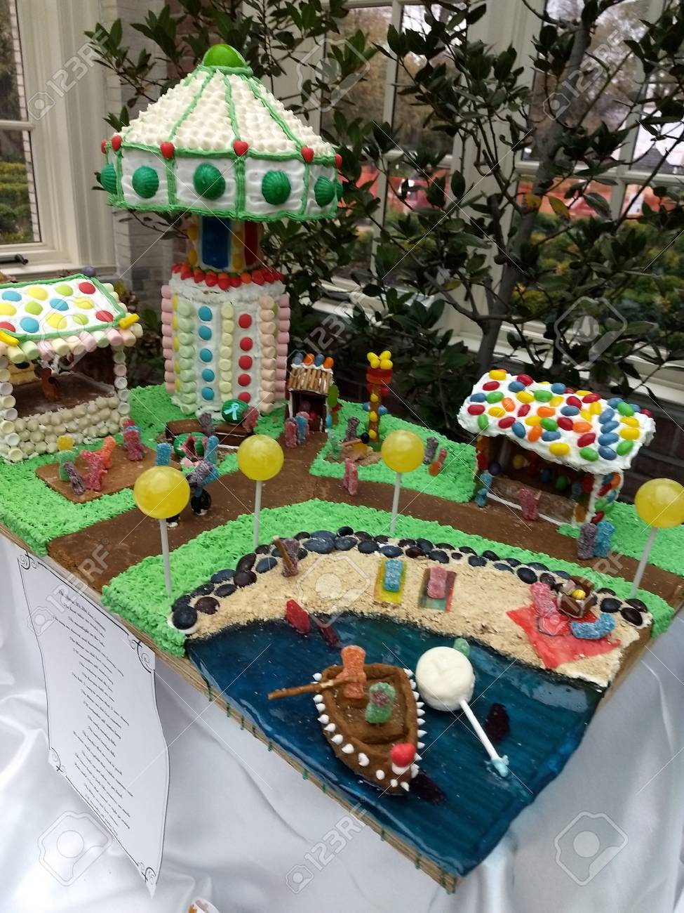 Editorial - November 14, 2017 - Rochester, NY - George Eastman Museum - gingerbread house exhibit Stock Photo - 90125504