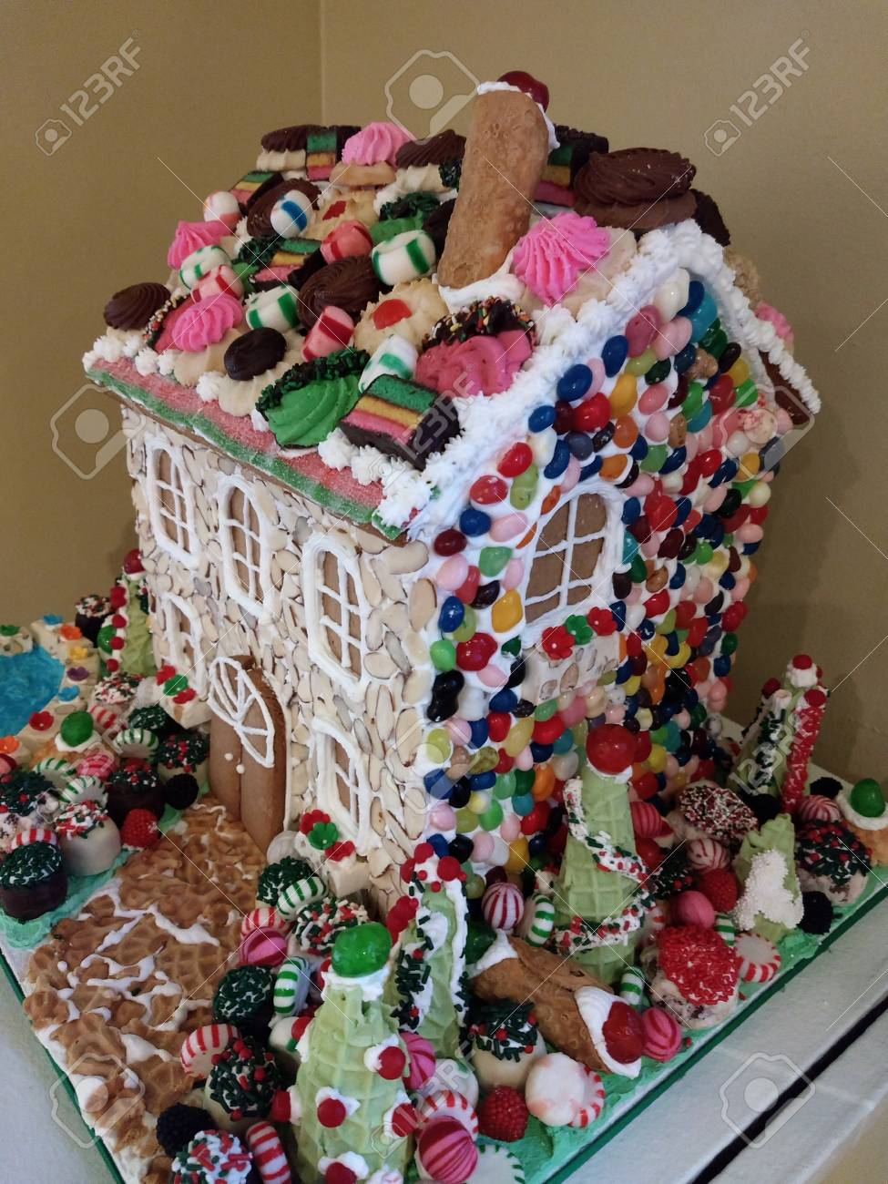 Editorial - November 14, 2017 - Rochester, NY - George Eastman Museum - gingerbread house exhibit Stock Photo - 90125392