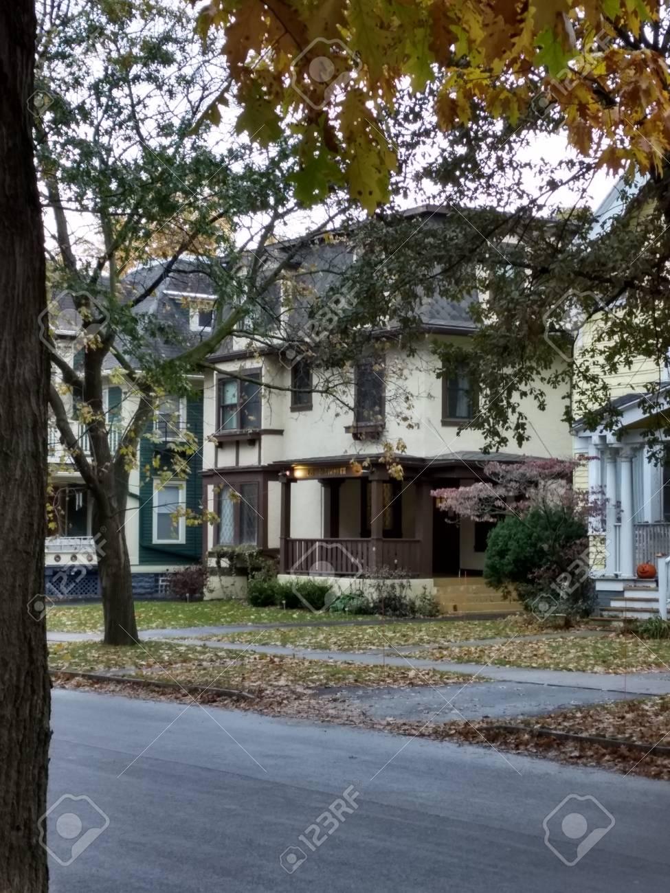 Editorial - November 15, 2017 - Rochester, NY - Old house Stock Photo - 90125394