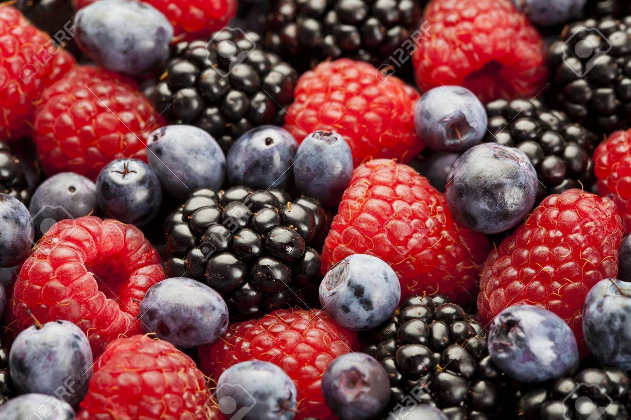 Raspberry, blackberry and blueberry background Stock Photo - 21702813