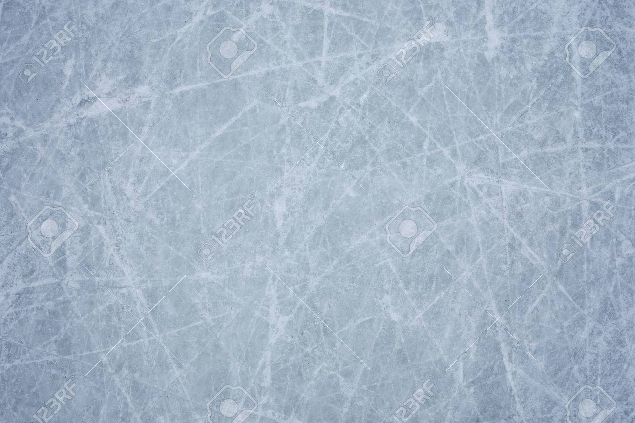 ice background with marks from skating and hockey - 43004084
