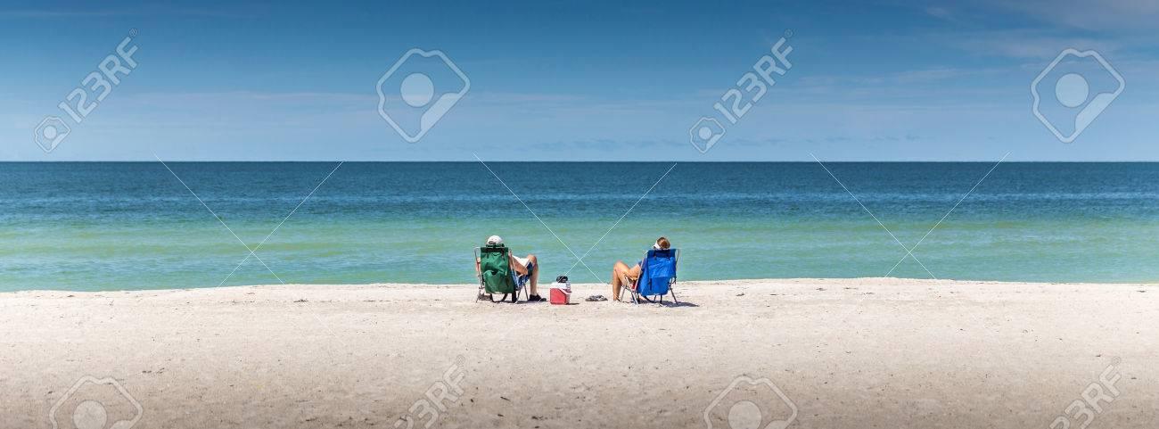 Happy Romantic Couple Enjoying Beautiful view at the Beach - 43025106