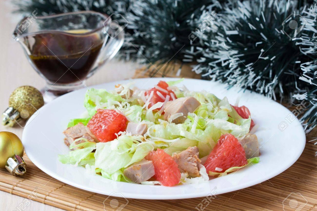 Salat Weihnachten.Stock Photo