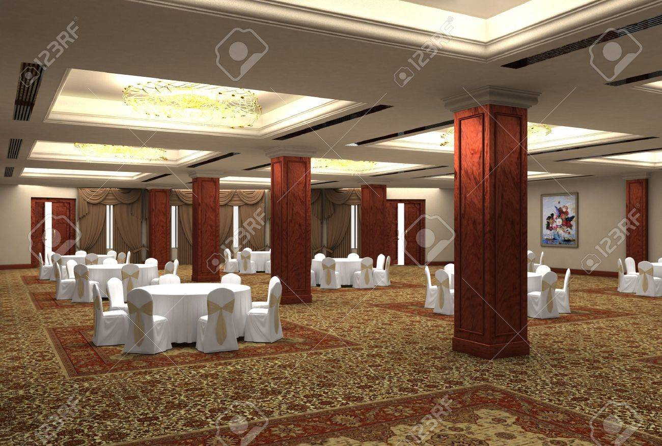 3D design the project of restaurant Stock Photo - 10432393