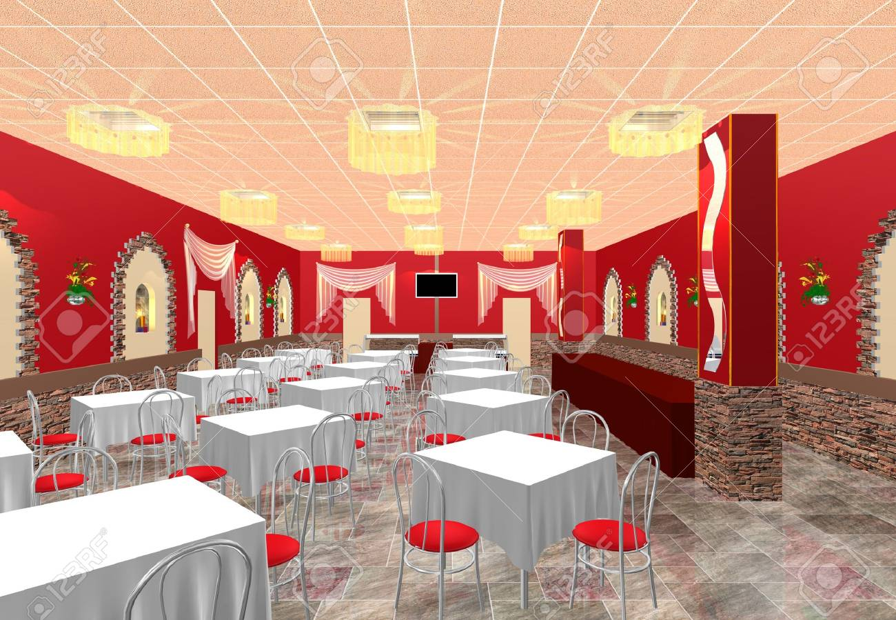 Banquet hall reception area download 3d house - Banquet Hall 3d Design The Project Of Restaurant