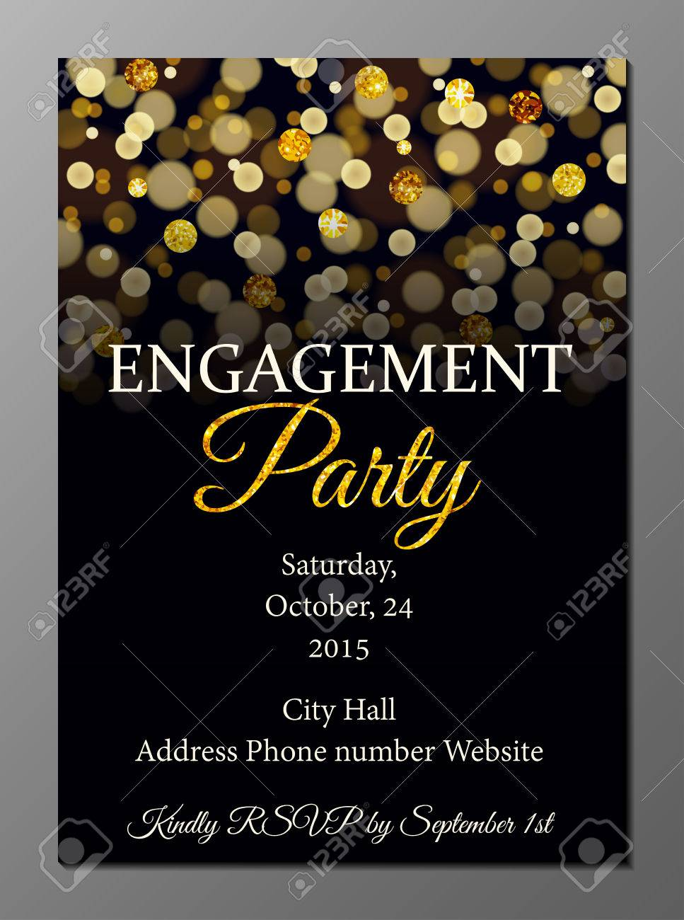 Vector Illustration Of Party Invitation Card Design Template