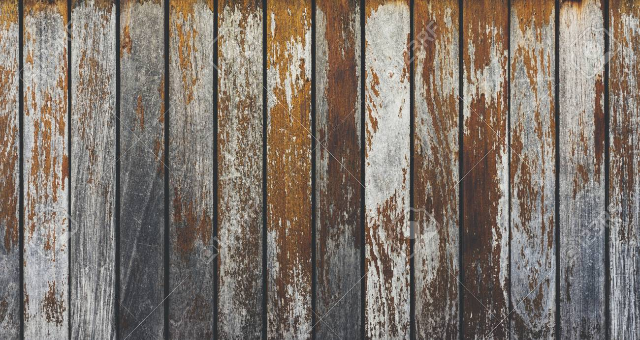 Grey And Orange Background With Wooden Texture Horizontal Top View Isolated Vintage Dark Wood Backdrop