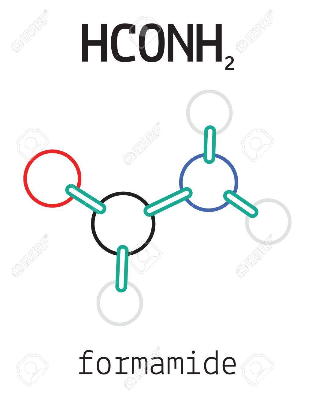 白で隔離 HCONH2 ホルムアミド 3...