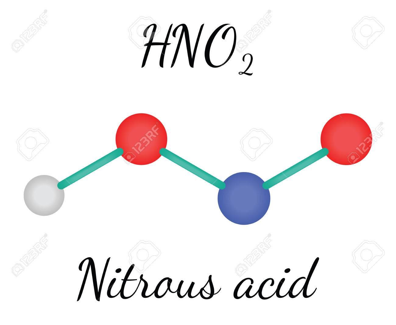 hno2 nitrous acid 3d molecule isolated on white royalty free