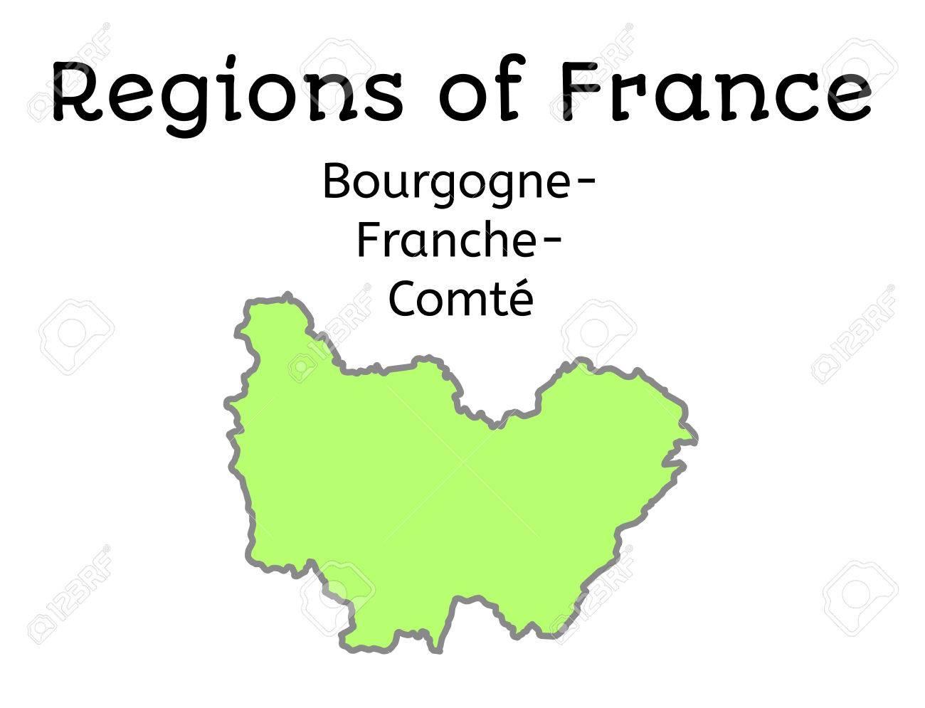 Carte Bourgogne Blanc.France Carte Administrative De La Region Bourgogne Franche Comte Sur