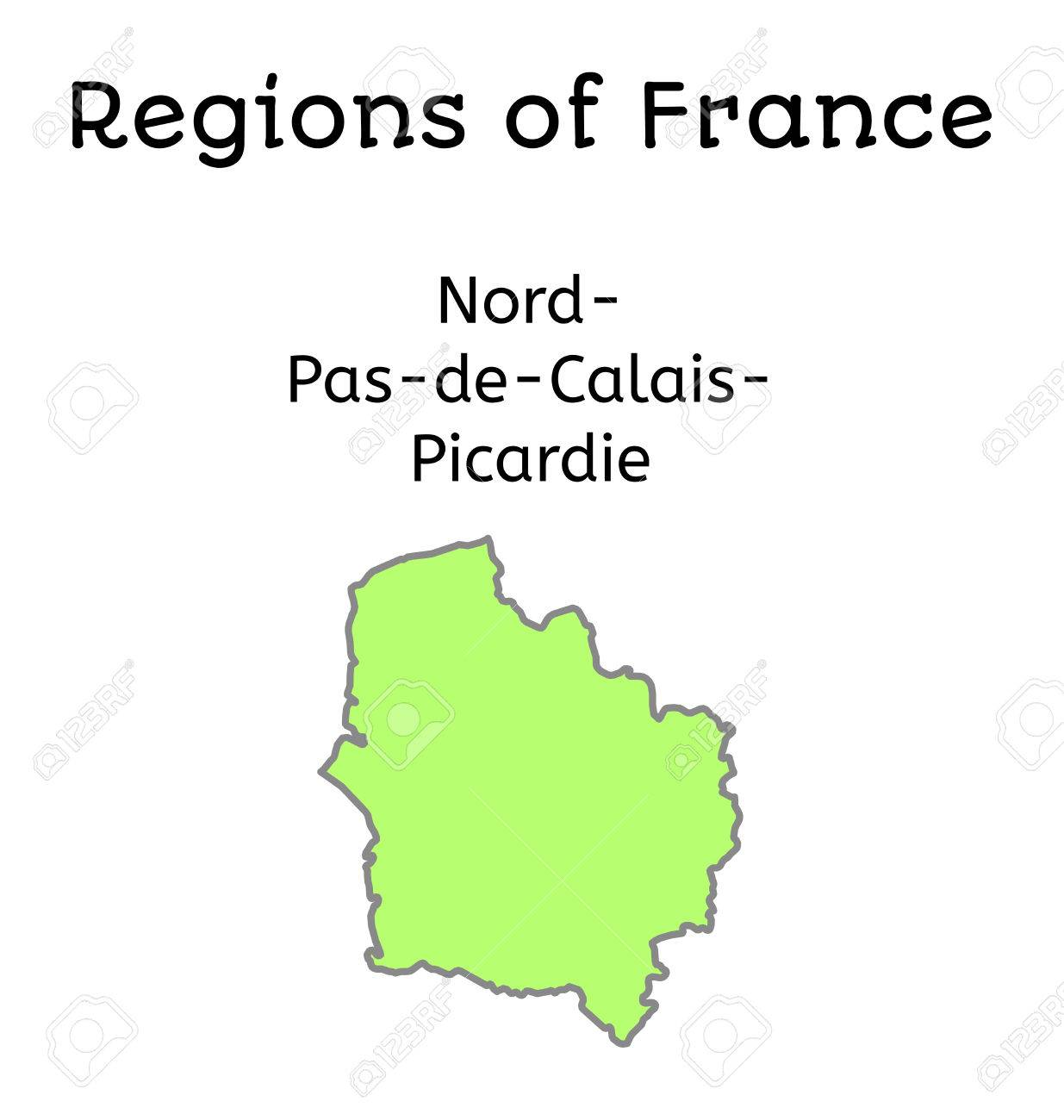 France Administrative Map Of Nord Pas De Calais Picardy Region Royalty Free Cliparts Vectors And Stock Illustration Image 56426978