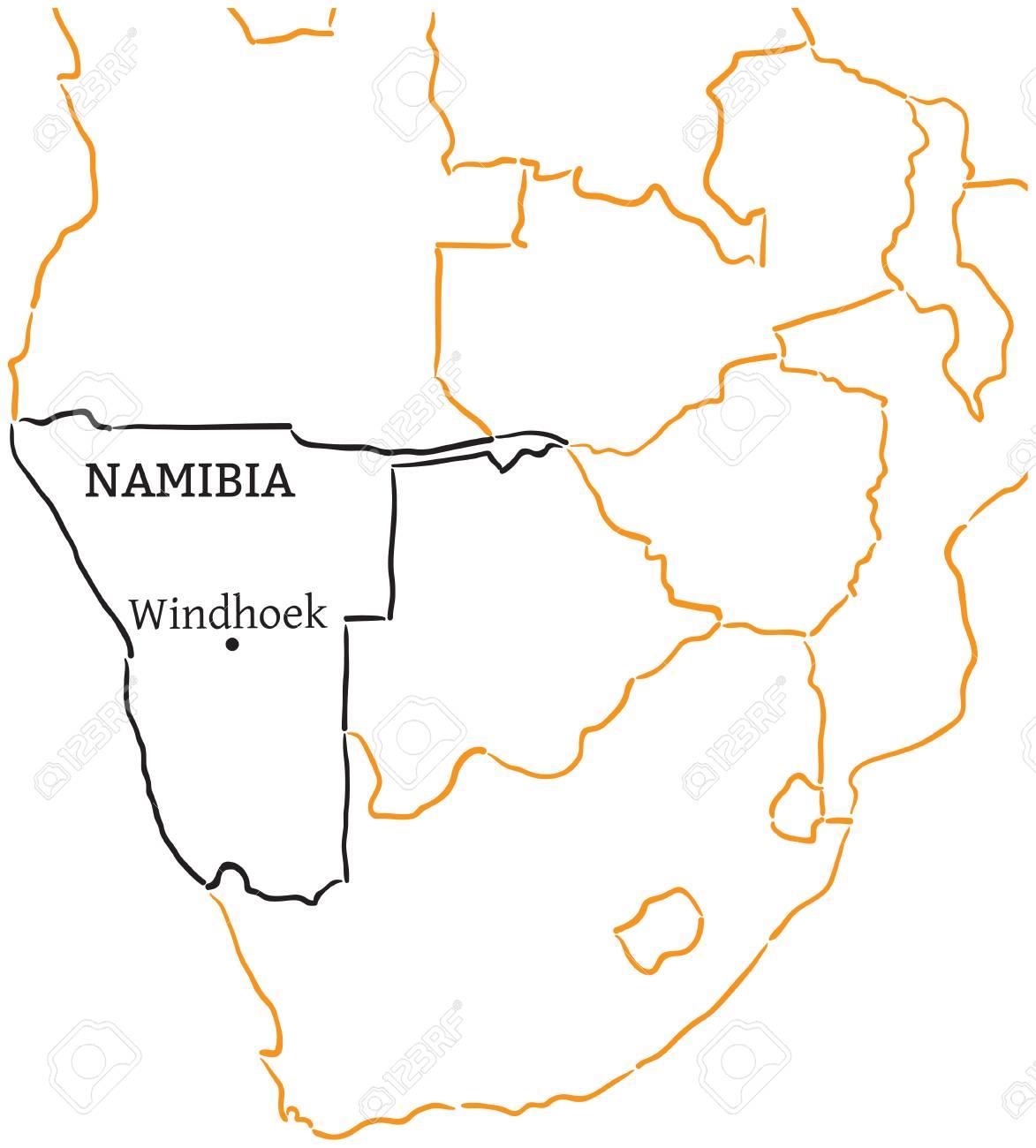 Namibia Land Mit Der Hauptstadt Windhoek In Afrika