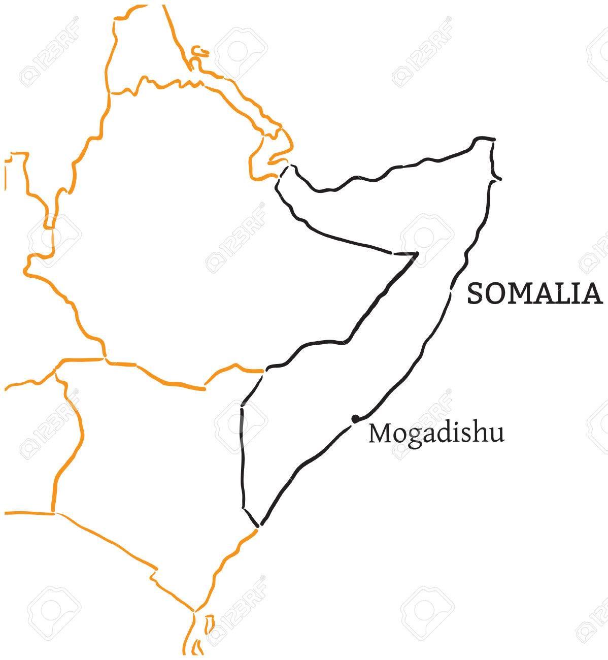 Mogadishu On World Map