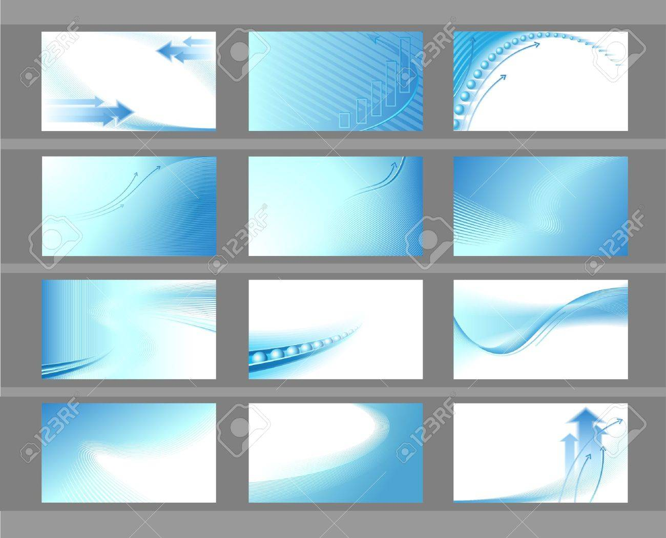Horizontal vector backgrounds for business cards Stock Vector - 12410952