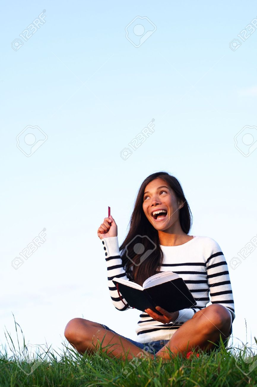Woman student going Stock Photo - 5439807