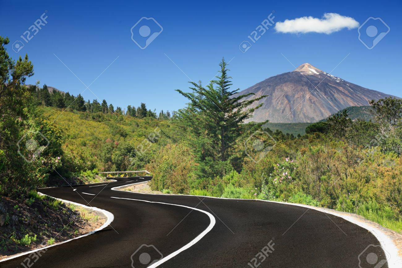 Open Road On Tenerife Winding Mountain Road In Beautiful Landscape Stock Photo Picture And Royalty Free Image Image 7044600
