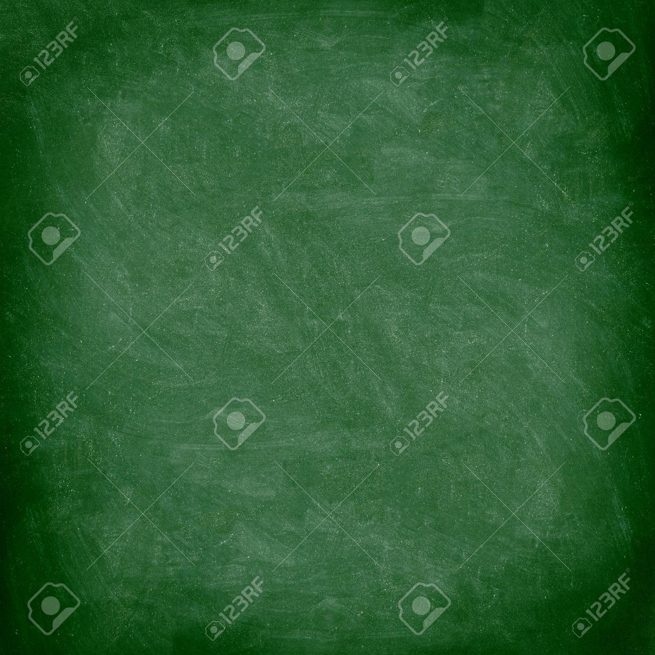 chalkboard blackboard green chalk board texture empty blank with chalk traces stock photo