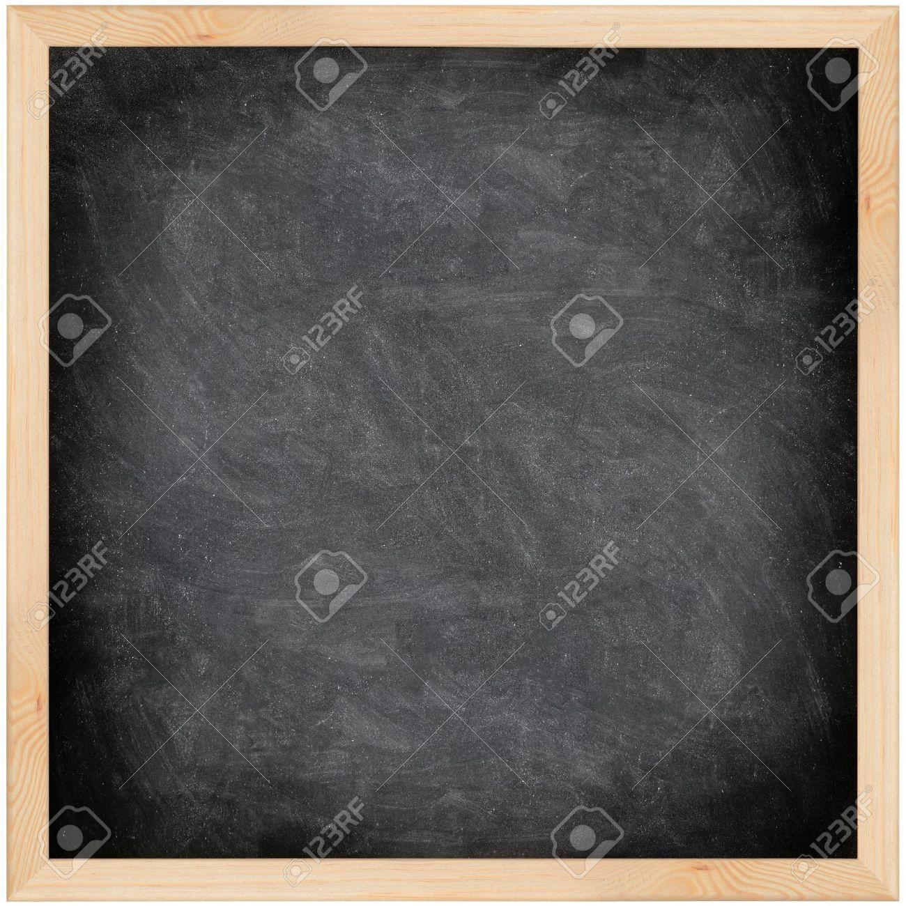 chalkboard blackboard with frame isolated black chalk board stock