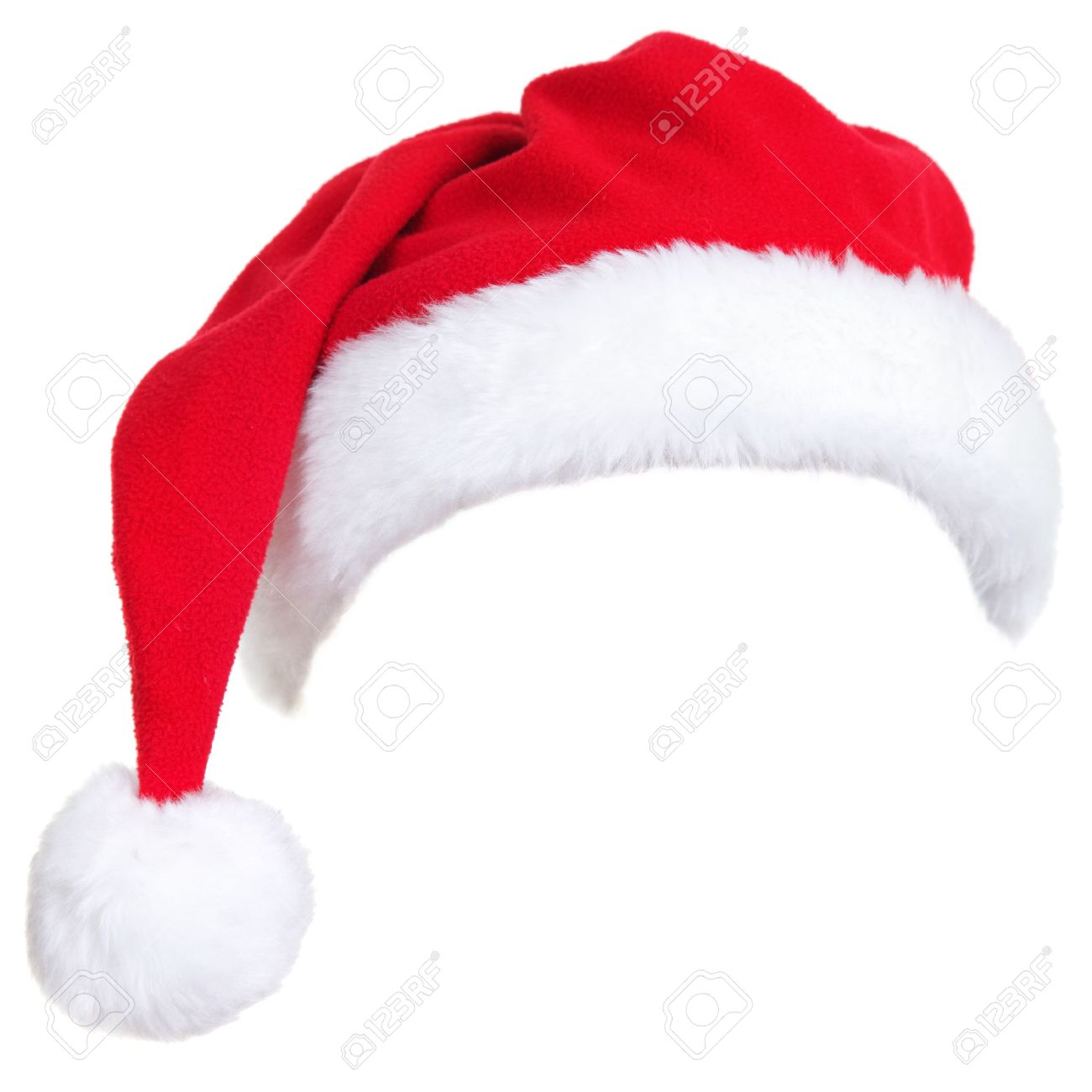 76e345d119be4 Christmas santa hat isolated on white background. designed to easily put on  persons head.
