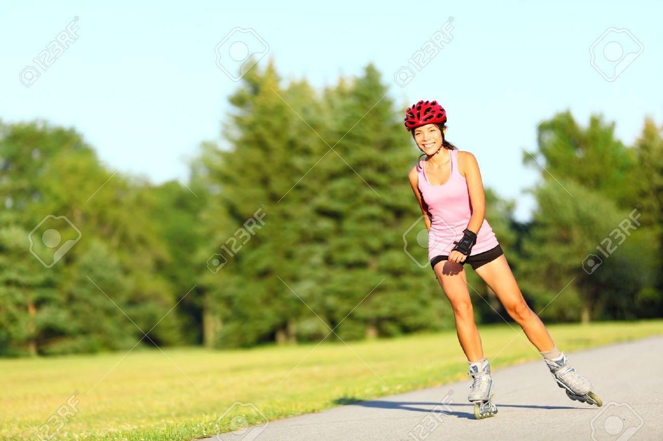 Roller Blades For Girls Girl going rollerblading