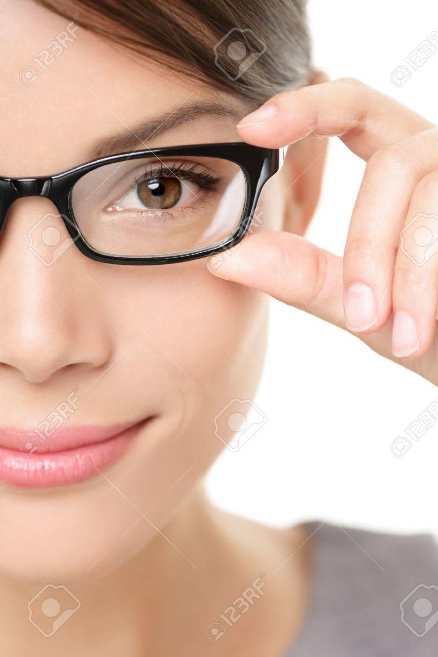 Eyewear glasses woman closeup portrait Stock Photo - 15892714
