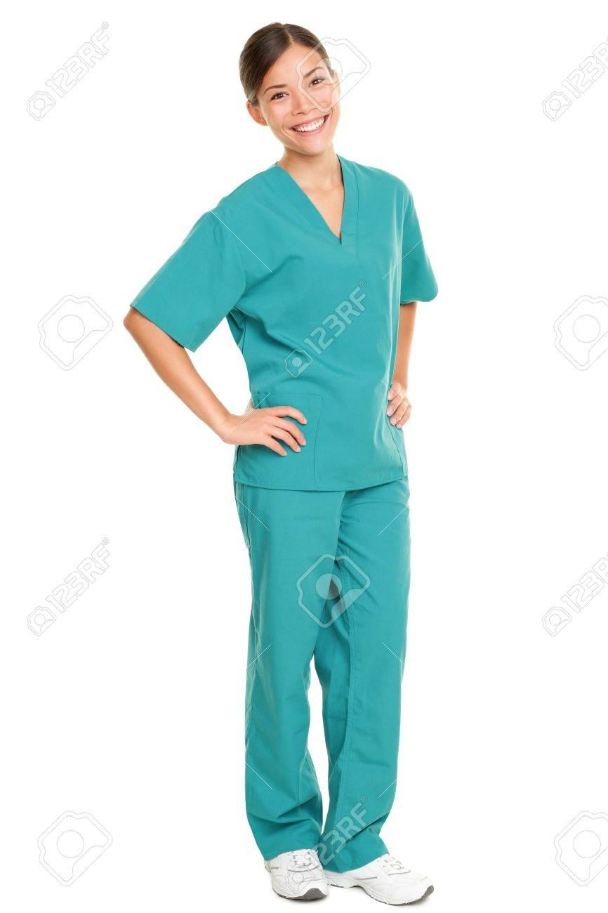 Medical nurse  in green scrubs Stock Photo - 17960256