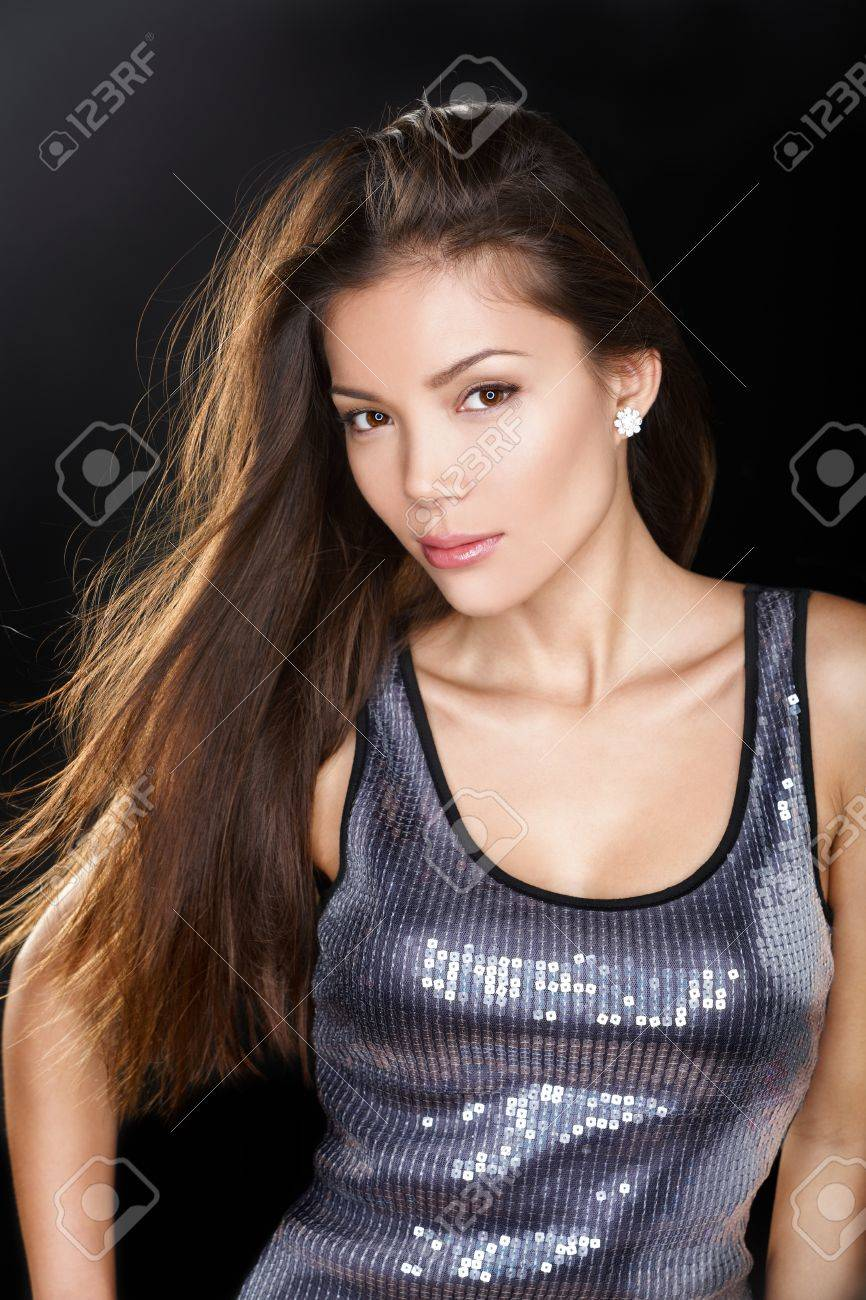 Female model in glamour party dress Stock Photo - 20785033
