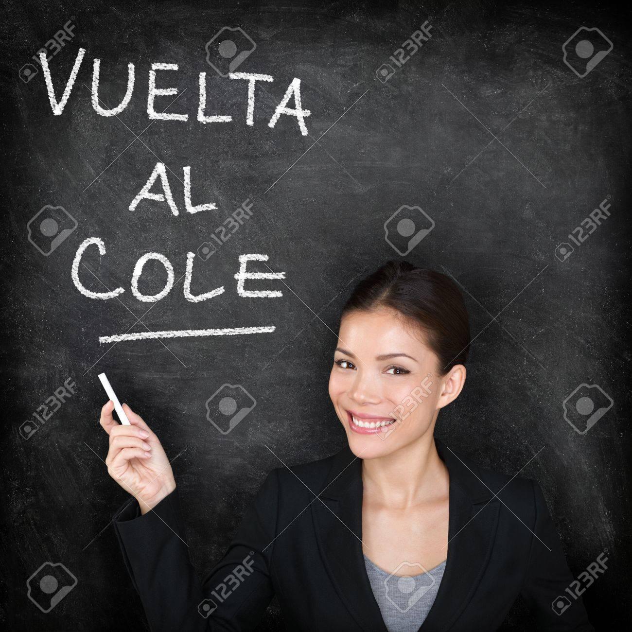 Vuelta Al Cole - Spanish Teacher Woman. Back To School Written ...