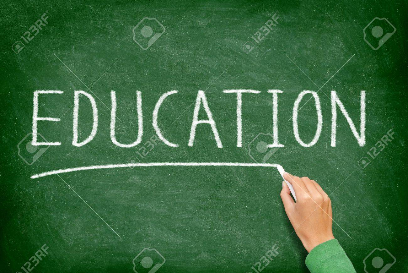 education school teaching and educational concept blackboard