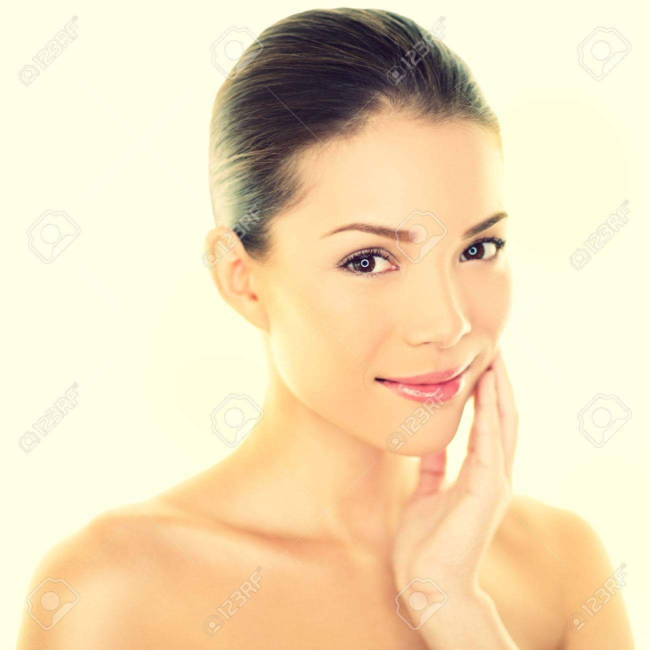 Woman Beauty Skincare Woman Touching Perfect Skin On Face Beautiful Stock Photo Picture And Royalty Free Image Image 32709024