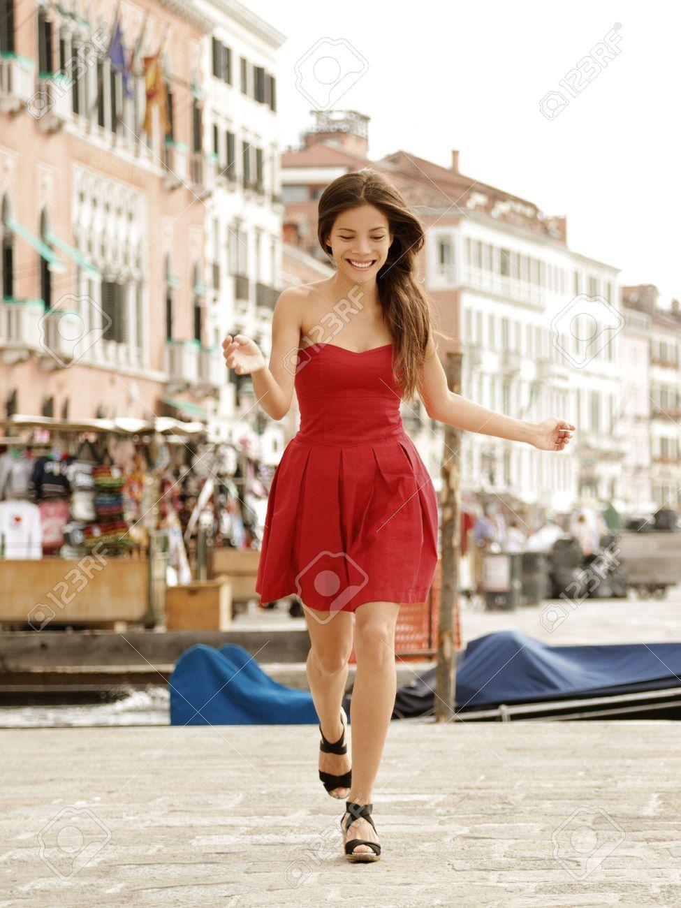 rode zomer jurk