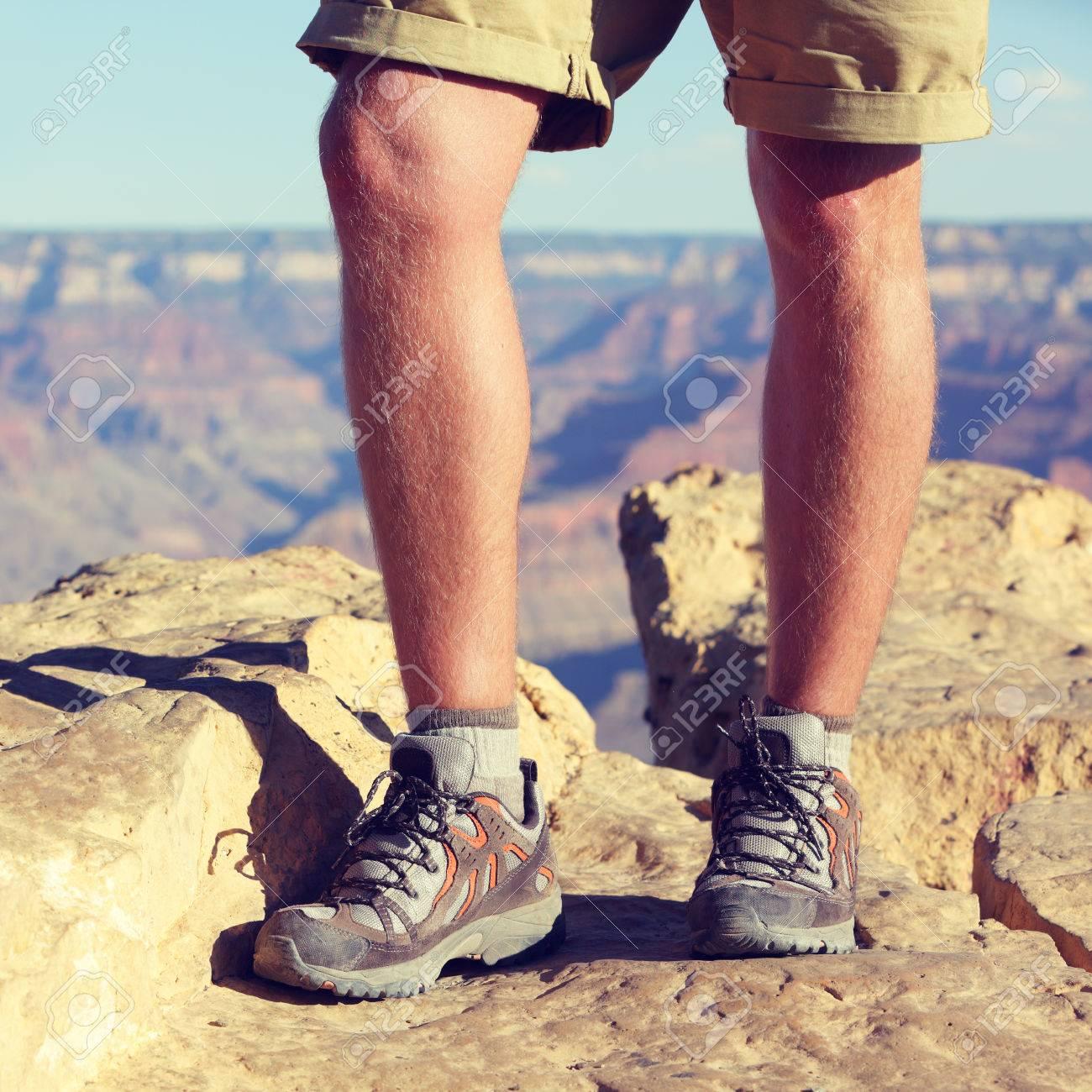 Chaussures de randonnée randonneur sur outdoors walking