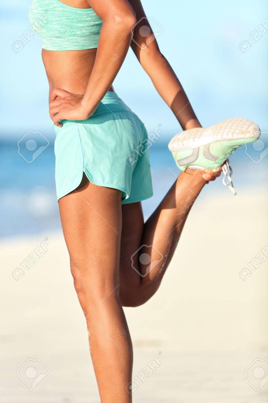 Resultado de imagen para cuadriceps estiramiento de pie