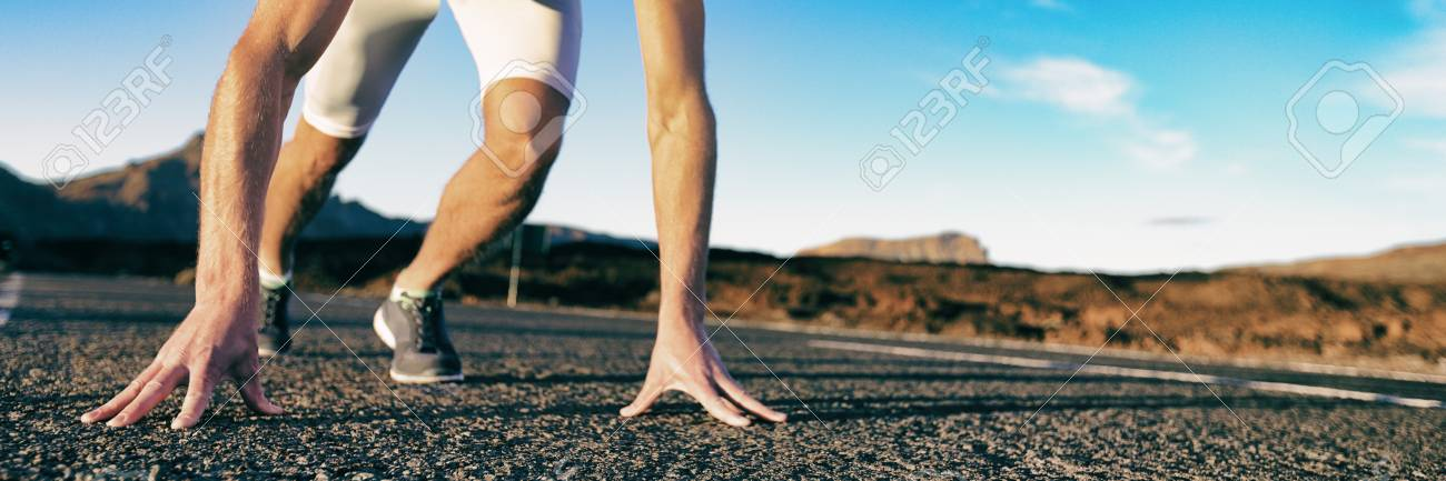 Start Athlete Ready To Run Competition Waiting For Starting Sprinting Stock Photo Picture And Royalty Free Image Image 118141401
