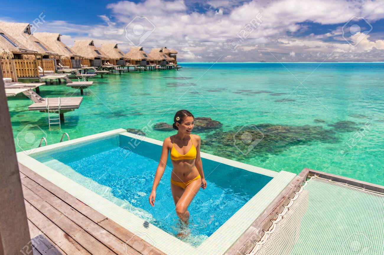 Luxury Travel Vacation At Bora Bora Overwater Bungalow Hotel