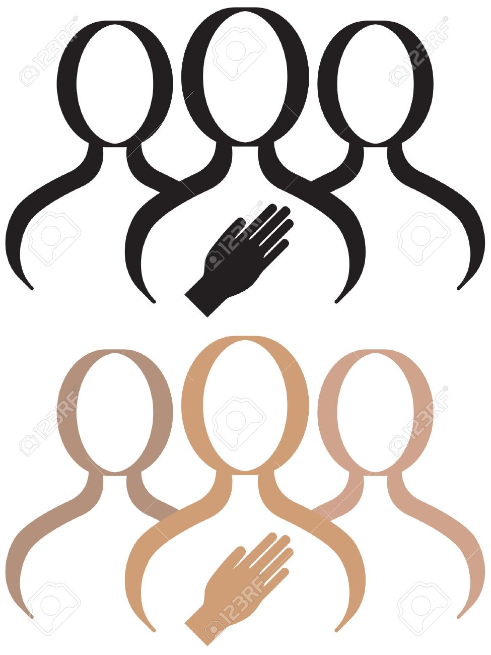 A support group for a person who is making a commitment or pledge. Stock Vector - 6075903