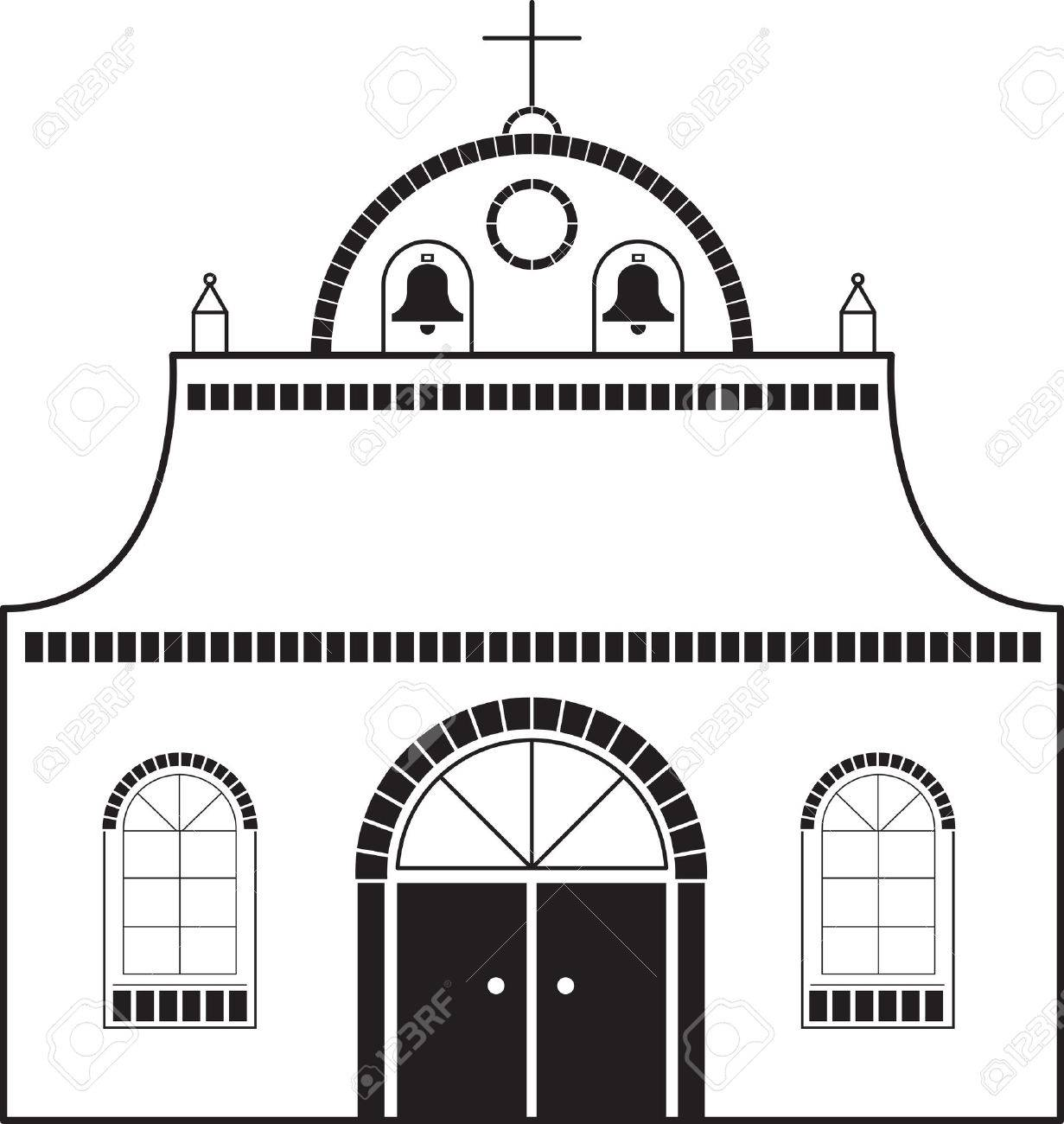 Mission Church Stock Vector - 6130107